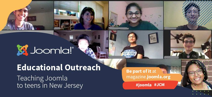 "Teaching Joomla to teens in New Jersey - Covid-19 ""Joomla style"""