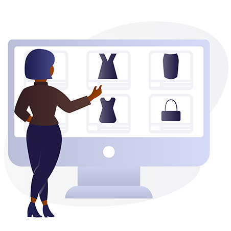 ecommerce shopping online black woman